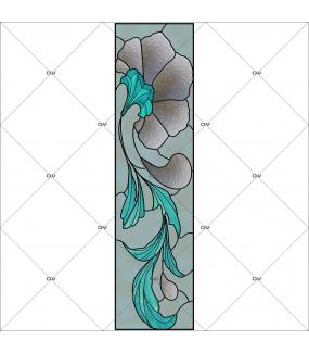 Sticker-vitrail-art-deco-retro-vintage-liserons-fleurs-vitrophanie-électrostatique-ou-adhésif-décoration-fenêtres-DECO-VITRES