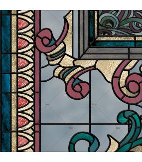 Sticker-vitrail-art-deco-retro-vintage-vitrophanie-électrostatique-ou-adhésif-décoration-fenêtres-DECO-VITRES