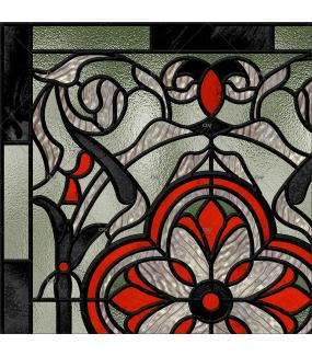 Sticker-vitrail-art-nouveau-retro-vintage-vitrophanie-électrostatique-ou-adhésif-décoration-fenêtres-DECO-VITRES