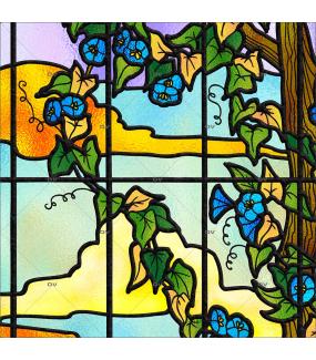 Sticker-vitrail-paysage-nature-retro-vitrophanie-électrostatique-ou-adhésif-décoration-fenêtres-DECO-VITRES