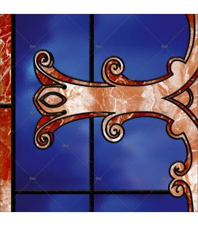 Sticker-vitrail-croix-religion-retro-vitrophanie-électrostatique-ou-adhésif-décoration-fenêtres-DECO-VITRES