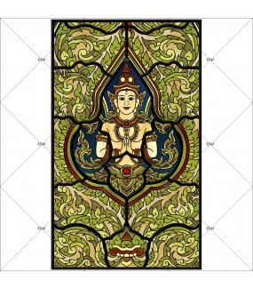 Sticker-vitrail-bouddha-asie-zen-vitrophanie-électrostatique-ou-adhésif-décoration-fenêtres-DECO-VITRES