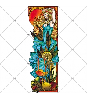 Sticker-vitrail-femme-cocktail-vitrophanie-électrostatique-ou-adhésif-décoration-fenêtres-DECO-VITRES