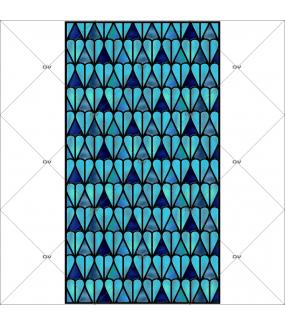 Sticker-vitrail-géométrique-bleu-électrostatique-sans-colle-ou-adhésif-décoration-fenêtres-DECO-VITRES