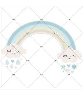 sticker-chambre-bebe-arc-en-ciel-nuages-doux-reves-coeur-gouttes-de-pluie-soleil-bleu-enfant-garcon-tissu-adhesif-enlevable-encres-ecologiques-DECO-VITRES