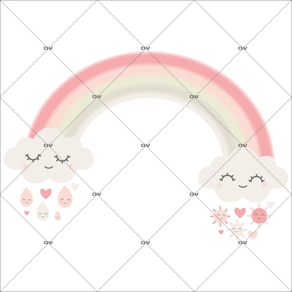 sticker-chambre-bebe-arc-en-ciel-nuages-doux-reves-coeur-gouttes-de-pluie-rose-enfant-fille-tissu-adhesif-enlevable-encres-ecologiques-DECO-VITRES