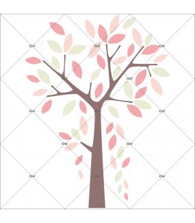 sticker-chambre-bebe-arbre-pluie-de-feuilles-rose-enfant-fille-tissu-adhesif-enlevable-encres-ecologiques-DECO-VITRES