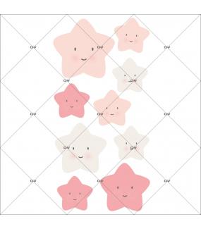 sticker-chambre-bebe-etoiles-rieuses-rose-enfant-fille-tissu-adhesif-enlevable-encres-ecologiques-DECO-VITRES