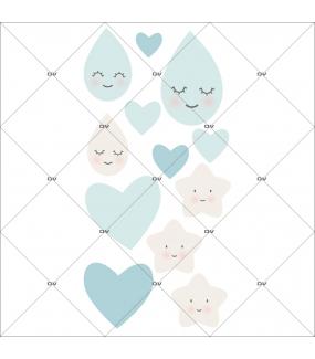 sticker-chambre-bebe-coeurs-gouttes-de-pluie-etoiles-bleu-enfant-garcon-tissu-adhesif-enlevable-encres-ecologiques-DECO-VITRES