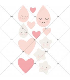 sticker-enfant-coeurs-gouttes-de-pluie-etoiles-rose-chambre-bebe-fille-tissu-adhesif-enlevable-encres-ecologiques-DECO-VITRES-ST108