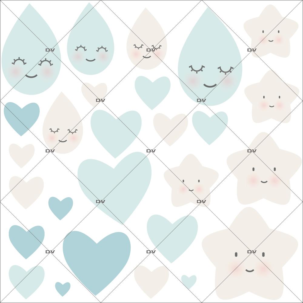 sticker-enfant-doux-reves-coeurs-bleu-chambre-bebe-garcon-tissu-adhesif-enlevable-encres-ecologiques-DECO-VITRES