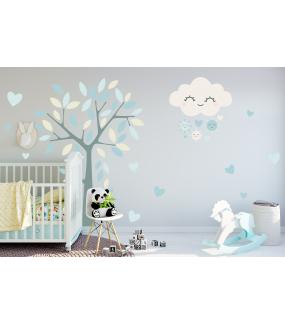 stickers-chambre-bebe-tissu-sans-pvc-encres-ecologiques-enfant-nuages-coeurs-arbre-soleil-garcon-DECO-VITRES