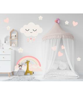 stickers-enfant-tissu-sans-pvc-encres-ecologiques-chambre-bebe-nuages-etoiles-coeurs-arc-en-ciel-fille-DECO-VITRES