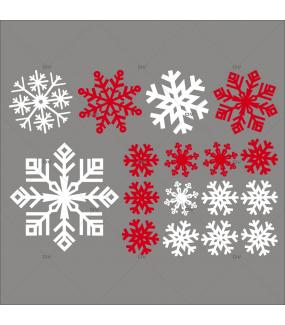Sticker-cristaux-de-neige-flocons-rouges-blancs-paysage-hiver-vitrophanie-décoration-vitrine-noël-électrostatique-sans-colle-repositionnable-réutilisable-DECO-VITRES