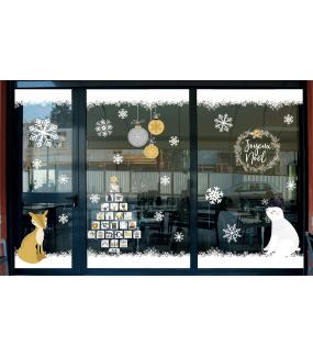 vitrine-noel-espiegle-decoration-renard-sapin-calendrier-avent-cristaux-ours-polaire-boules-couronne-vitrophanies-noel-electrostatique-sans-colle-stickers-DECO-VITRES