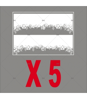 Stickers frises de cristaux - Lot de 5 dont 1 offert - DECO-VITRES - PACK9