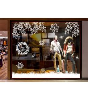 vitrine-decoration-noel-blanc-pur-feuilles-givrees-couronne-pin-houx-texte-joyeux-noel-frises-neige-cristaux-geants-vitrophanie-electrostatique-stickers-repositionnable-reutilisable-sans-colle-DECO-VITRES