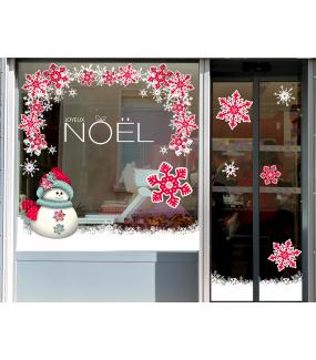photo-vitrine-stickers-noel-flashy-bonhomme-neige-cristaux-geants-rouges-blancs-frises-angles-texte-joyeux-noel-vitrophanie-electrostatique-repositionnable-reutilisable-sans-colle-DECO-VITRES
