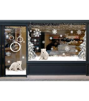 photo-decoration-vitrine-noel-sticker-electrostatique-vitrophanie-frise-boules-geantes-personnages-shopping-noel-flocons-arbres-givres-frises-cristaux-bonhomme-neige-reutilisable-decoration-complete-lot-promo-DECO-VITRES