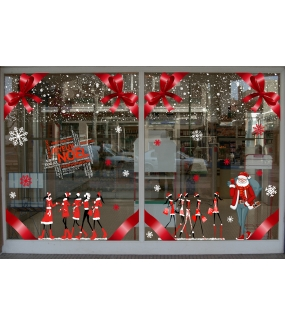 vitrine-sticker-electrostatique-vitrophanie-noel-flocons-cristaux-neige-mannequins-shopping-pere-noel-noeud-ruban-fashion-deco-vitres
