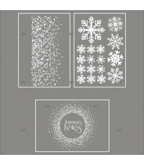lot-promotionnel-3-stickers-vitrine-noël-étincelant-electrostatique-sans-colle-repositionnable-etoiles-cristaux-flocons-DECO-VITRES-KIT12