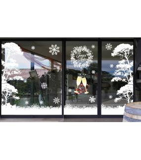 Sticker-pin-parasol-arbre-givré-blanc-paysage-hiver-vitrophanie-décoration-vitrine-noël-électrostatique-sans-colle-repositionnable-réutilisable-DECO-VITRES