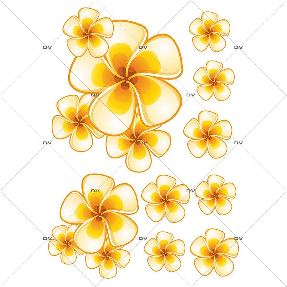 Sticker-fleurs-de-tiaré-fleurs-exotiques-été-vitrophanie-décoration-vitrine-estivale-électrostatique-sans-colle-repositionnable-réutilisable-DECO-VITRES