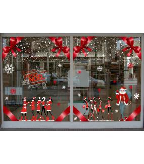 vitrine-sticker-electrostatique-vitrophanie-noel-flocons-cristaux-neige-mannequins-shopping-pere-noel-noeud-ruban-fashion-deco-vitres