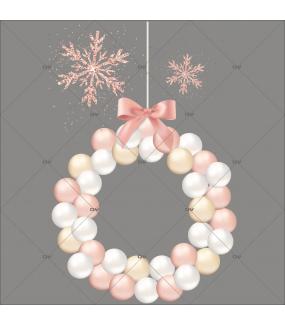 sticker-couronne-boules-roses-blanches-champagne-poudre-boudoir-vitrine-noel-electrostatique-vitrophanie-sans-colle-DECO-VITRES-CR10