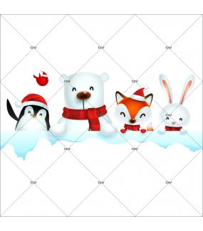 sticker-etagere-animaux-noel-pingouin-ours-polaire-renard-oiseau-lapin-neige-vitrine-noel-electrostatique-vitrophanie-sans-colle-DECO-VITRES-LUD2