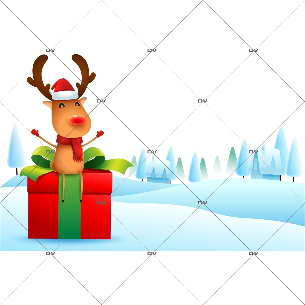 sticker-etagere-renne-noel-cadeau-paysage-de-neige-vitrine-noel-electrostatique-vitrophanie-sans-colle-DECO-VITRES-LUD3