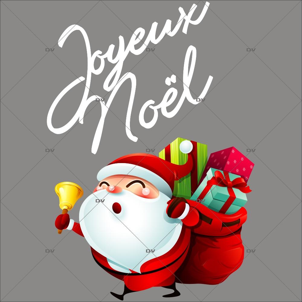 sticker-pere-noel-hotte-cadeaux-clochette-texte-joyeux-noel-vitrine-noel-electrostatique-vitrophanie-sans-colle-DECO-VITRES-LUD8
