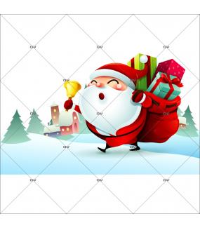 sticker-pere-noel-hotte-cadeaux-clochette-paysage-de-neige-vitrine-noel-electrostatique-vitrophanie-sans-colle-DECO-VITRES-LUD6