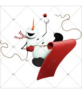 sticker-bonhomme-de-neige-retro-nez-carotte-luge-vitrine-noel-electrostatique-vitrophanie-sans-colle-DECO-VITRES-BN10