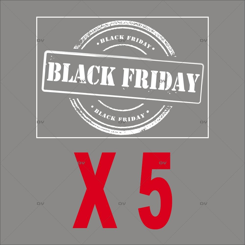 Lot-promotionnel-de-5-stickers-labels-Black-Friday -blancs-vitrophanies-electrostatiques-DECO-VITRES-PACK19