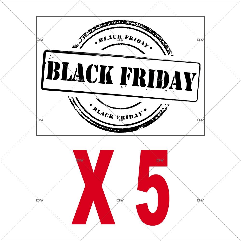 Lot-promotionnel-de-5-stickers-labels-Black-Friday-noirs-vitrophanies-electrostatiques-DECO-VITRES-PACK18