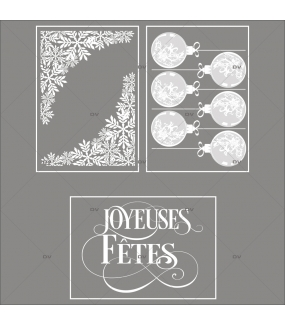 lot-promotionnel-3-stickers-vitrine-noel-chic-puppies-cristaux-boules-texte-joyeuses-fetes-electrostatique-sans-colle-repositionnable-DECO-VITRES-KIT16