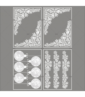 lot-promotionnel-4-stickers-vitrine-noel-chic-puppies-cristaux-frises-et-angles-boules-geantes-electrostatique-sans-colle-repositionnable-DECO-VITRES-KIT17