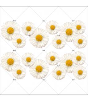 Sticker-frises-de-pâquerettes-fleurs-printemps-été-vitrophanie-décoration-vitrine-estivale-printanière-électrostatique-sans-colle-repositionnable-réutilisable-DECO-VITRES