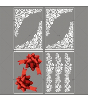 Lot-promotionnel-4-stickers-vitrine-noel-chic-puppies-cristaux-frises-et-angles-noeuds-cadeaux-bolduc-rouge-noel-electrostatique-sans-colle-repositionnable-DECO-VITRES-KIT301