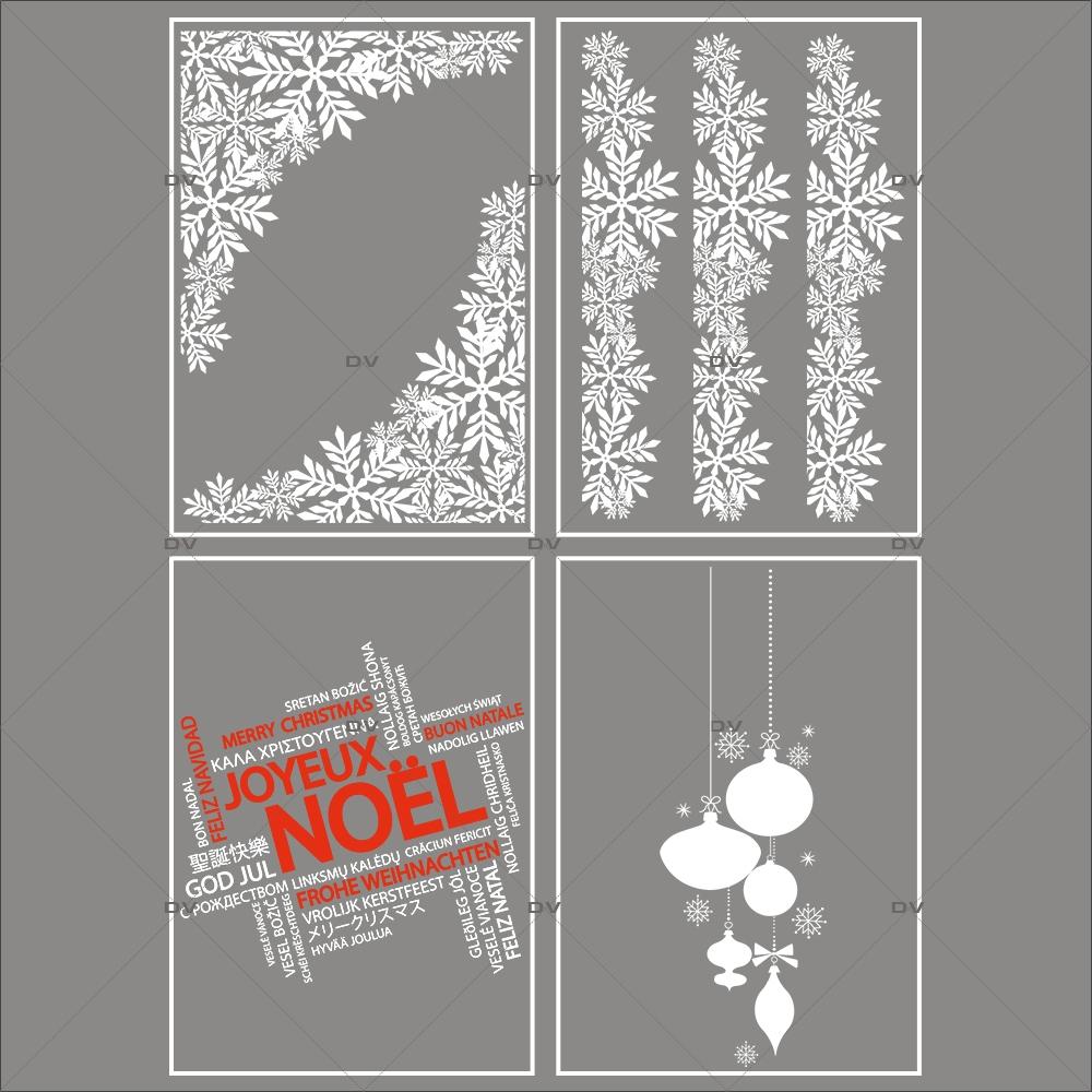 Lot-promotionnel-4-stickers-vitrine-noel-chic-puppies-cristaux-frises-et-angles-suspensions-boules-texte-joyeux-noel-multilingue-electrostatique-sans-colle-repositionnable-DECO-VITRES-KIT103