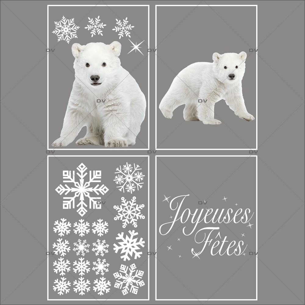 lot-promotionnel-4-stickers-vitrine-noel-polaire-oursons-cristaux-joyeuses-fêtes-electrostatique-sans-colle-repositionnable-DECO-VITRES-KIT62