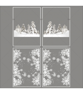 lot-promotionnel-3-stickers-vitrine-noel-sports-d-hiver-paysage-enneige-sapins-frises-entourage-cristaux-electrostatique-sans-colle-repositionnable-DECO-VITRES-KIT74