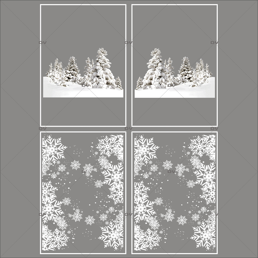 lot-promotionnel-3-stickers-vitrine-noel-sports-d-hiver-paysage-enneige-sapins-frises-entourage-cristaux-electrostatique-sans-colle-repositionnable-DECO-VITRES-KIT74