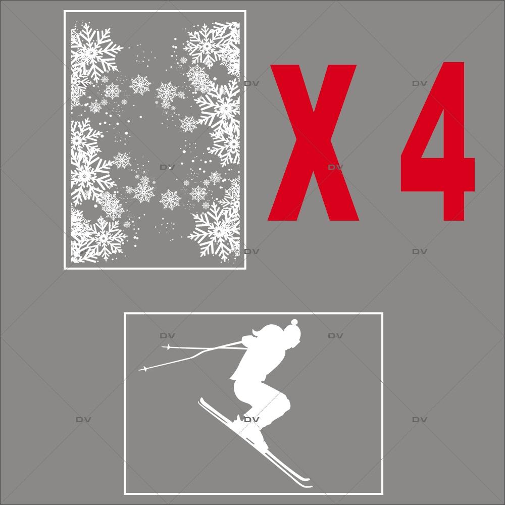 lot-promotionnel-5-stickers-vitrine-noel-sports-d-hiver-skieur-frises-de-cristaux-couronne-joyeuses-fetes-electrostatique-sans-colle-repositionnable-DECO-VITRES-KIT303