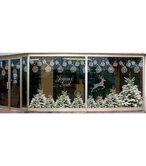 photo-vitrine-sticker-electrostatique-vitrophanie-noel-frise-boules-cristaux-sapin-enneiges-paysage-hiver-renne-neige-DECO-VITRES