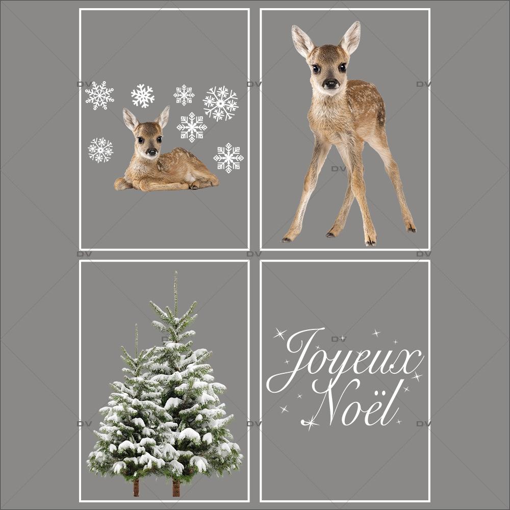 lot-promotionnel-4-stickers-vitrine-noel-nature-sapins-enneiges-hiver-texte-joyeux-noel-faons-electrostatique-sans-colle-repositionnable-DECO-VITRES-KIT304