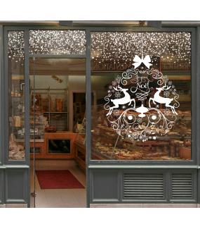 vitrine-decoration-noel-boule-geante-frises-ciel-etoiles-blanc-pur-texte-joyeux-noel-cristaux-neige-cristaux-volutes-rennes-noeud-cadeau-vitrophanie-electrostatique-stickers-repositionnables-reutilisables-sans-colle-DECO-VITRES