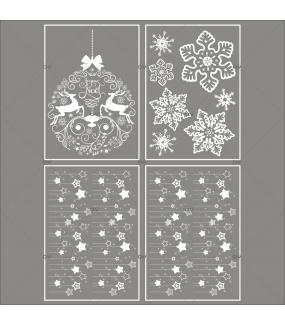 Lot-promotionnel-4-stickers-vitrine-noel-iconique-boule-geante-cristaux-frises-etoiles-electrostatique-sans-colle-repositionnable-DECO-VITRES-KIT40