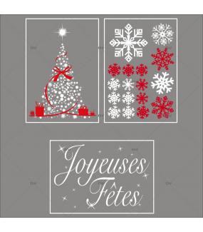 lot-promotionnel-3-stickers-vitrine-noel-rouge-blanc-sapin-cristaux-texte-joyeuses-fetes-electrostatique-sans-colle-repositionnable-DECO-VITRES-KIT8